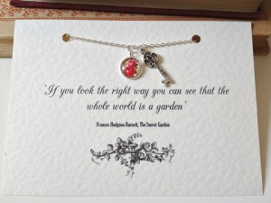 Literary themed jewellery, I love this vintage 'Secret Garden Key' necklace